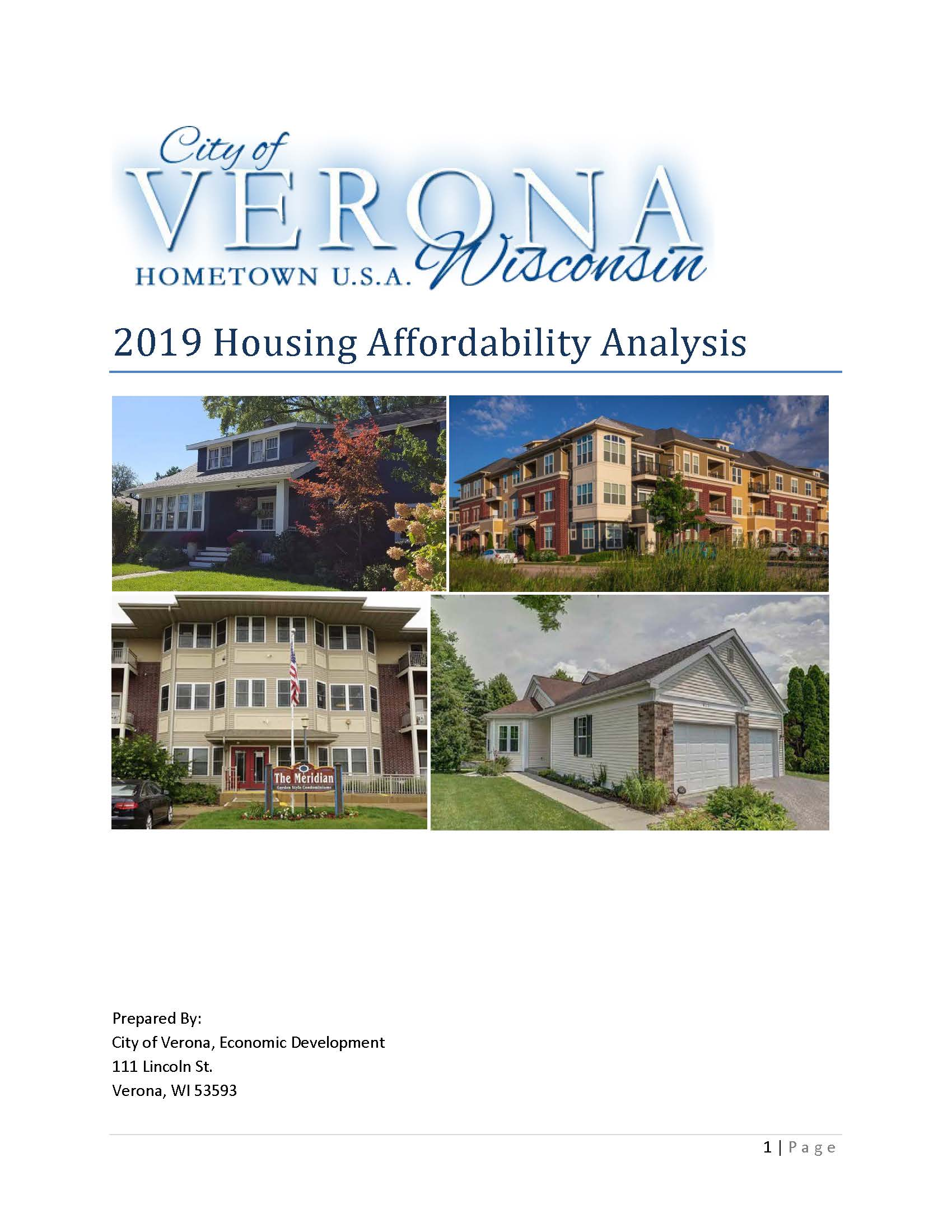 Cover Housing Affordability Analysis